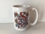 Coffee Mug with Rosemaling