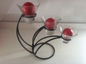 Three In A Row Candleholder
