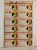 God Jul/ St. Lucia Gift Labels