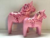 Pink Dala Horse