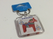 Dala Horse Key Ring