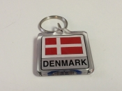 Danish Flag Key Ring
