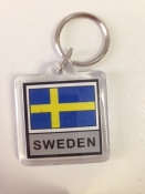 Swedish Flag Key Ring