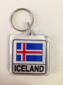 Icelandic Flag Key Ring