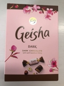 Geisha, Dark Chocolate/Hazelnut Filling