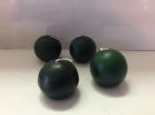 Ball candle, green, package of 4