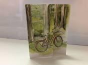 A Bike in the Woods Greeting Card
