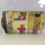 """Serving Tray with  Carl Larsson's """"Boy Hiding"""""""