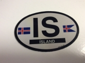 Iceland Oval Flag Decal