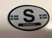 Sweden Oval Flag Decal