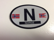Norway Oval Flag Decal
