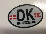 Denmark Oval Flag Decal