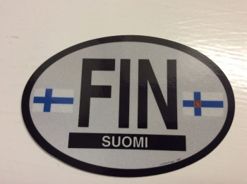 Finland Oval Flag Decal