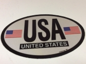 American Oval Flag Decal