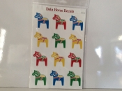 Dala Horse Decals in Bright Colors