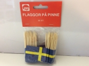 Sweden-Flags on Toothpicks