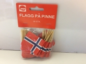 Norway-Flags on Toothpicks