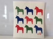 Dala Horses dishcloth