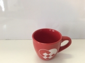 Red Glogg (Glogg) Mug with a Woven Heart