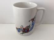 White Rosemaling Mug