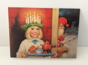 Christmas Cards With Lucia Serving Breakfast