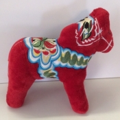 Plush Dala Horse Toy