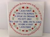 Norwegian Table Prayer Ceramic Tile