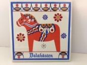 Red Dala Horse on Ceramic Tile