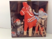 Painting the Dala Horse Ceramic Tile