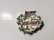 Map of Iceland with Flag, Magnet