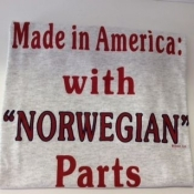 Made in America with Norwegian Parts, T-shirt