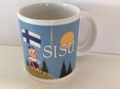 Finnish Child with Finnish Flag Coffee Mug