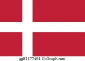 Danish Flag, 3' X 5'