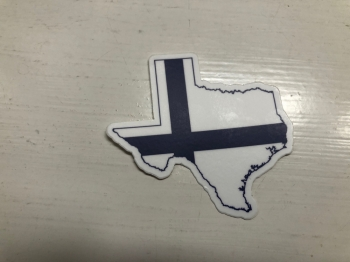 Texas and Finland Flag Decals