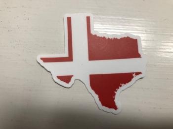 Texas and Danish Flag Decal