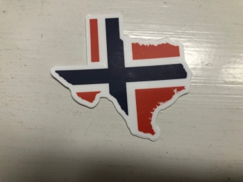Texas and Norwegian Flag Decal