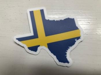 Texas and Swedish Flag Decal