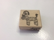 Straw Goat, Rubber Stamp