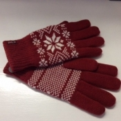 Nordic Gloves in Red