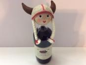 Female Viking Bottle Topper