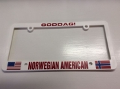 Norwegian-American, License Plate Holder