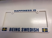 Happiness is being Swedish, License Plate Holder