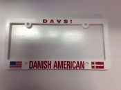 Danish-American, License Plate Holder