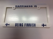 Happiness is Being Finnish, License Plate Holder