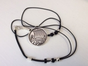 Pewter Necklace with Imprint of Viking Ship