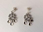 Solje, Wreath Earrings, Gold or Silver