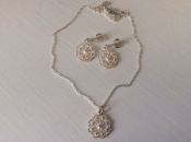 Solje Set, Filigree, White Silver