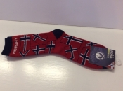 Red Socks With Norwegian Flags