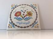 Swedish Flower Ceramic Tile