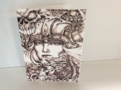 Female Viking Note Cards